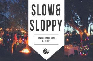 Évènement « Slow and Sloppy » organisé par Slow Food Cocagne Acadie, le 9 septembre 2017 à la ferme Marcel Goguen. Photo : Slow Food Cocagne Acadie.
